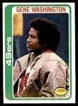 1978 Topps #403  Gene Washington  Front Thumbnail