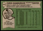 1978 Topps #495  Chris Hanburger  Back Thumbnail