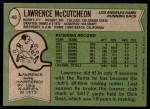 1978 Topps #45  Lawrence McCutcheon  Back Thumbnail