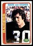 1978 Topps #235  Mark Van Eeghen  Front Thumbnail