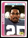 1978 Topps #178  Horace King  Front Thumbnail