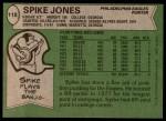 1978 Topps #118  Spike Jones  Back Thumbnail