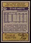 1979 Topps #478  Stan White  Back Thumbnail