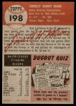 1953 Topps #198  Forrest Main  Back Thumbnail