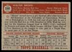 1952 Topps #235  Walt Dropo  Back Thumbnail