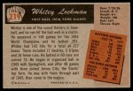 1955 Bowman #219  Whitey Lockman  Back Thumbnail