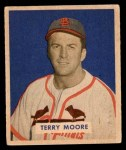 1949 Bowman #174  Terry Moore  Front Thumbnail
