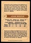 1976 O-Pee-Chee WHA #57  John Miszuk  Back Thumbnail