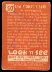 1952 Topps Look 'N See #50  Admiral Byrd  Back Thumbnail