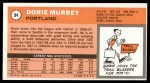1970 Topps #94  Dorie Murrey   Back Thumbnail