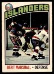 1976 O-Pee-Chee NHL #62  Bert Marshall  Front Thumbnail