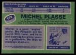 1976 Topps #172  Michel Plasse  Back Thumbnail