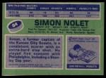 1976 Topps #64  Simon Nolet  Back Thumbnail