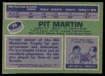 1976 Topps #76  Pit Martin  Back Thumbnail