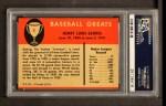 1961 Fleer #31  Lou Gehrig  Back Thumbnail