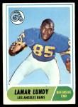 1968 Topps #80  Lamar Lundy  Front Thumbnail