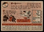1958 Topps #29  Ted Lepcio  Back Thumbnail