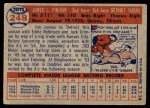 1957 Topps #248  Jim Finigan  Back Thumbnail