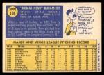 1970 Topps #108  Tom Burgmeier  Back Thumbnail
