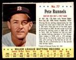 1963 Jello #77  Pete Runnels  Front Thumbnail