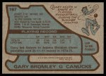 1979 Topps #167  Gary Bromley  Back Thumbnail