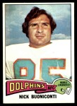 1975 Topps #345  Nick Buoniconti  Front Thumbnail
