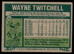 1977 Topps #444  Wayne Twitchell  Back Thumbnail