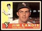 1960 Topps #550  Jim Landis  Front Thumbnail