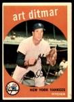 1959 Topps #374  Art Ditmar  Front Thumbnail