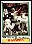 1974 Topps #451  Ken Stabler  Front Thumbnail