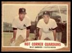 1962 Topps #163 GRN  -  Clete Boyer / Billy Gardner Hot Corner Guardians Front Thumbnail