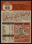 1953 Topps #113  Jerry Priddy  Back Thumbnail