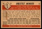 1953 Bowman #36  Minnie Minoso  Back Thumbnail