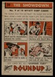 1956 Topps Round Up #39   -  Wyatt Earp  The Showdown Back Thumbnail