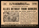 1954 Topps Scoop #24   Retreat From Dunkirk  Back Thumbnail