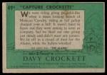 1956 Topps Davy Crockett Green Back #49   Capture Crockett Back Thumbnail