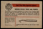 1953 Bowman Firefighters #47   Modern Rescue Truck and Pumper - Buffalo Back Thumbnail