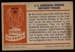 1954 Bowman Power for Peace #33   U.S. Icebreakers Traverse Northwest Passage Back Thumbnail