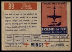 1952 Topps Wings #99   YAK-15 Back Thumbnail