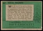 1956 Topps Davy Crockett Green Back #80   Texas Triumph  Back Thumbnail