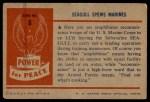 1954 Bowman Power for Peace #6   Seagull Spews Marines Back Thumbnail