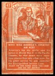 1957 Topps Isolation Booth #47   America's Greatest Air Ace Back Thumbnail