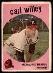 1959 Topps #95  Carl Willey  Front Thumbnail