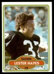 1980 Topps #195  Lester Hayes  Front Thumbnail