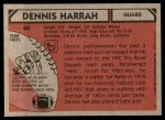 1980 Topps #60  Dennis Harrah  Back Thumbnail