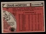 1980 Topps #105  Craig Morton  Back Thumbnail