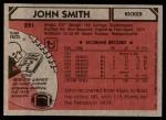 1980 Topps #291  John Smith  Back Thumbnail