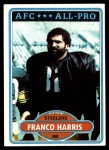1980 Topps #400  Franco Harris  Front Thumbnail