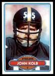 1980 Topps #436  Jon Kolb  Front Thumbnail