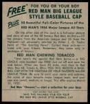 1954 Red Man #9 NL Del Rice  Back Thumbnail